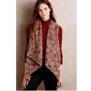 Anthropologie Elevenses Pelage Faux Fur Vest